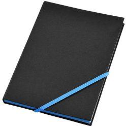 Travers hard cover notebook, Cardboard, solid black, Blue