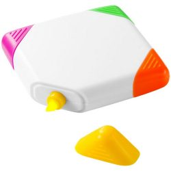 Trafalgar square-shaped, 4-colour highlighter, ABS plastic, White