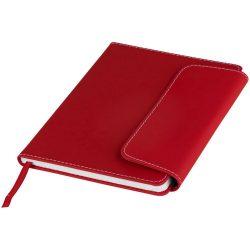 Agenda A5 cu pagini dictando, coperta magnetica, Everestus, HS03, pvc, rosu, lupa de citit inclusa