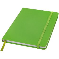 Spectrum A5 hard cover notebook, PVC covered cardboard, Lime
