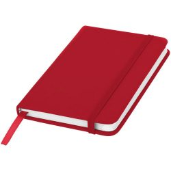 Spectrum A6 hard cover notebook, PVC covered cardboard, Red