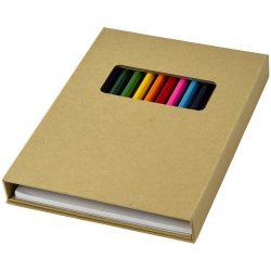 Set 12 creioane colorate, cu hartie de desenat, Everestus, 20IAN1001, Alb, Hartie
