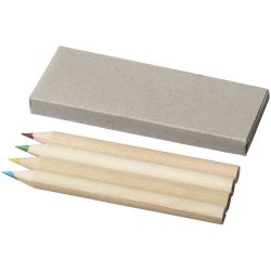 Tullik 4-piece coloured pencil set, Paper, Natural