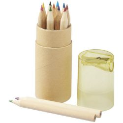 Hef 12-piece coloured pencil set with sharpener, Paper, Yellow