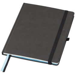 Conference B5 notebook with blank pages, Thermo PU, solid black