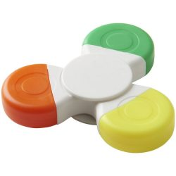 Fun Tri-Twist™ highlighter, ABS plastic, White