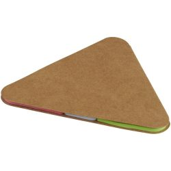 Triangle sticky pad, Cardboard, Brown