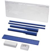 Mindy 8-piece Pencil case set, ABS and ASS and PS plastic, Blue