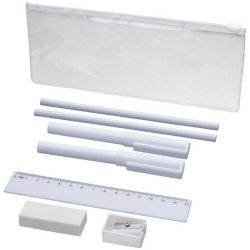 Mindy 8-piece Pencil case set, ABS and ASS and PS plastic, White