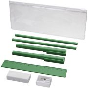 Mindy 8-piece Pencil case set, ABS and ASS and PS plastic, Green