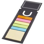 Sticky note bookmark, Paper, solid black