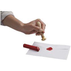 Instrument pentru sigilat scrisori, cupru, lemn, ceara, Everestus, ABE21, natur, lupa de citit inclusa