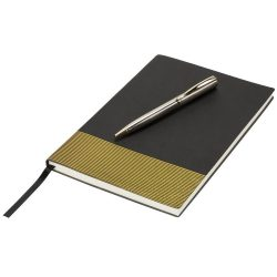 Midas Notebook & Pen Gift Set, Thermo PU, solid black