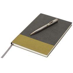 Midas Notebook & Pen Gift Set, Thermo PU, Grey