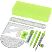 Julia 9-piece school geometry set, Plastic, Green