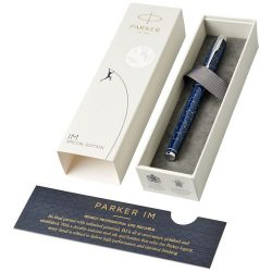 Parker IM Luxe special edition fountain pen, Metal, Dark blue