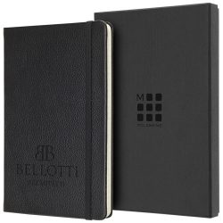 Classic L leather notebook - ruled, Leather,  solid black