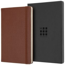 Classic L leather notebook - ruled, Leather, Sienna brown