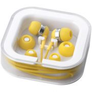Sargas lightweight earbuds, ABS and PVC, Yellow