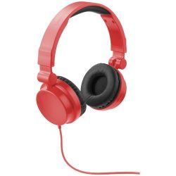 Rally foldable headphones, ABS plastic, Red