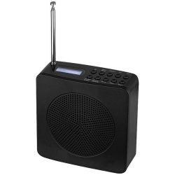 DAB alarm clock radio, ABS Plastic, solid black