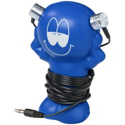 Best friend earbuds with amusing coiling stand, ABS Plastic, Royal blue