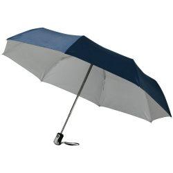 Umbrela 21.5 inch pliabila, cu deschidere si inchidere automata, Everestus, AX, poliester, albastru, argintiu