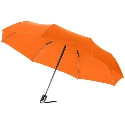 Umbrela 21.5 inch pliabila, cu deschidere si inchidere automata, Everestus, AX, poliester, portocaliu