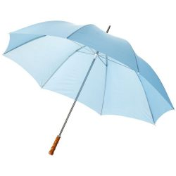 "Karl 30"" umbrella with wooden handle, Polyester, Process Blue"