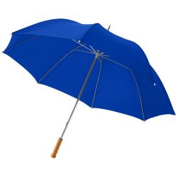"""Karl 30"""" umbrella with wooden handle, Polyester, Royal blue"""