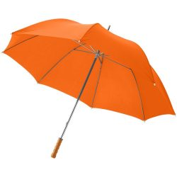 "Karl 30"" umbrella with wooden handle, Polyester, Orange"