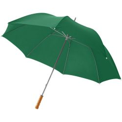 """Karl 30"""" umbrella with wooden handle, Polyester, Green"""