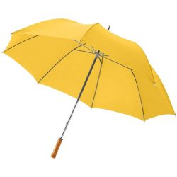 "Karl 30"" umbrella with wooden handle, Polyester, Yellow"