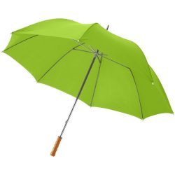 """Karl 30"""" umbrella with wooden handle, Polyester, Lime"""