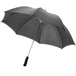 Umbrela 30 inch, ax metalic, Everestus, WR, poliester, negru, saculet de calatorie inclus