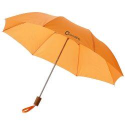 """Oho 20"""" foldable umbrella, Polyester, Orange"""