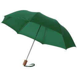 "Oho 20"" foldable umbrella, Polyester, Green"