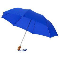 "Oho 20"" foldable umbrella, Polyester, Royal blue"