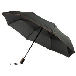 "Stark-mini 21"" foldable auto open/close umbrella, Pongee polyester, Orange"