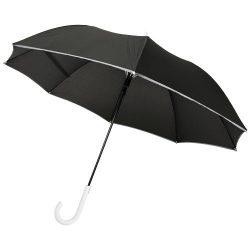 "Felice 23"" auto open windproof reflective umbrella, Pongee polyester, White"