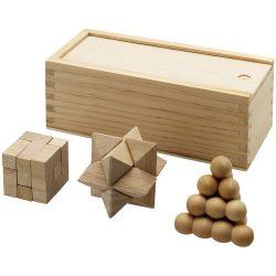 Set pentru stimularea gandirii, 3 piese, Everestus, BC, lemn