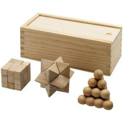 Set pentru stimularea gandirii, 3 piese, Everestus, BC, lemn, saculet de calatorie inclus