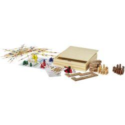 Set multi jocuri de masa, Everestus, ME, lemn, saculet de calatorie inclus