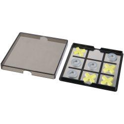 Winnit magnetic tic-tac-toe game, PP plastic, solid black,Transparent