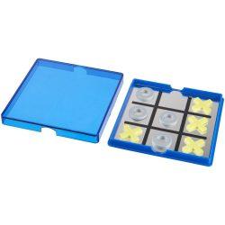 Joc magnetic X si 0, Everestus, JJE07, polipropilena plastic, albastru transparent, saculet de calatorie inclus