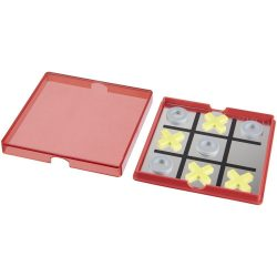 Winnit magnetic tic-tac-toe game, PP plastic, Red,Transparent