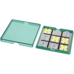 Joc magnetic X si 0, Everestus, JJE08, polipropilena plastic, verde transparent, saculet de calatorie inclus