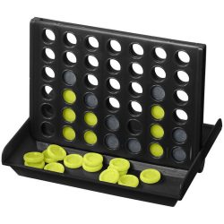 Luke 4-in-a-row game, PP plastic, solid black