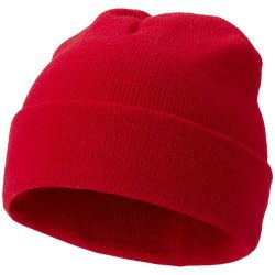 Irwin beanie, Unisex, 1x1 Rib knit of 100% Acrylic, Red
