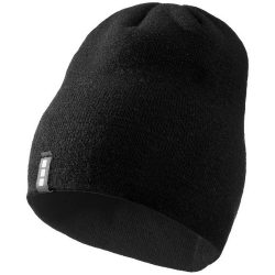 Level beanie, Unisex, 1x1 Rib knit of 100% Acrylic, solid black